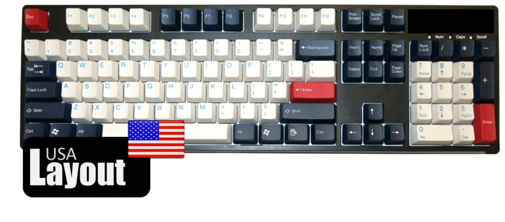 Tai-Hao ABS Double Shot Keycaps Navy Blue USA